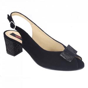 Sandale din piele naturală cod 1203 Black