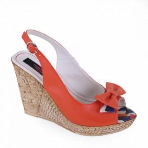Sandale din piele naturală cod 331 Corai