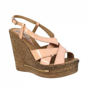 Sandale din piele naturală cod 375 Corai