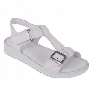 Sandale din piele naturală cod 48 Beyaz
