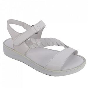 Sandale din piele naturală cod 602 Beyaz