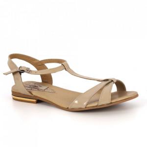 Sandale din piele naturală cod 6044 Bej
