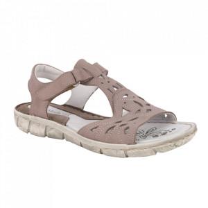 Sandale din piele naturală cod SD35B-107 Bej