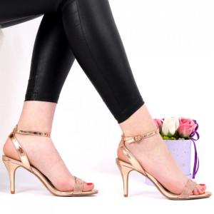 Sandale pentru dame cod 117-5 Champagne