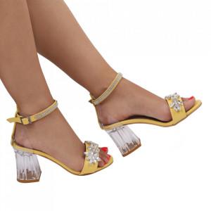 Sandale pentru dame cod 2107 Yellow
