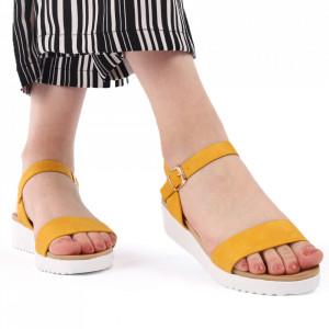 Sandale pentru dame cod 63131 Yellow