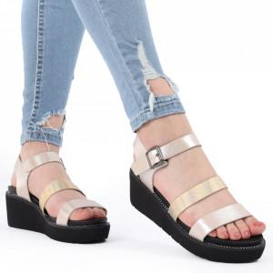 Sandale pentru dame cod 9330-9 Gold