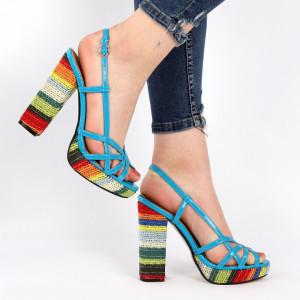 Sandale pentru dame cod AB701 Blue