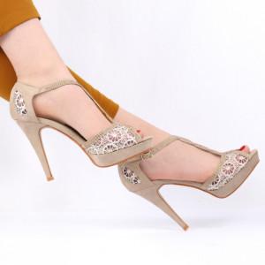 Sandale pentru dame cod H2027 Beige