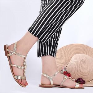 Sandale pentru dame cod OD1100 Gold
