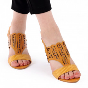 Sandale pentru dame cod Z44 Yellow