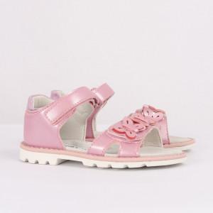 Sandale pentru fete cod CP58 Roz - Sandale pentru fete cu tălpic din piele naturală - Deppo.ro