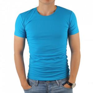 Tricou pentru bărbați cod 4101 Turcoaz
