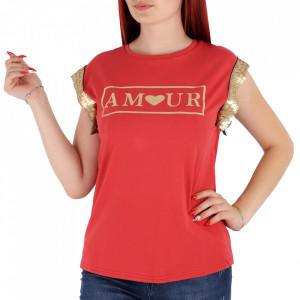 Tricou pentru dame cod F230 Red