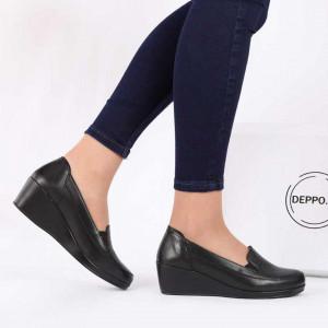 Pantofi din piele naturală cod 118092 Black
