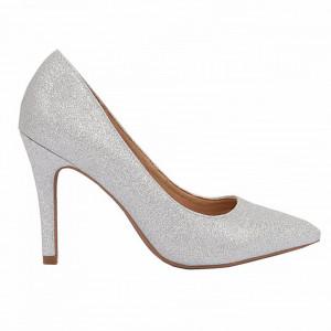 Pantofi cu toc cod A55053 Arginti