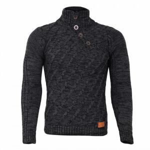 Bluză Alan Gri Închis - Bluza este cel mai versatil articol vestimentar din sezonul rece, o piesă cu reputaţie a stilului casual având compoziţia 50% lână 50% acrilic - Deppo.ro