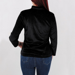 Bluză Katrina Black - Eleganța este singura frumusețe care nu dispare!  Bluză cu chic, cusclipici  Potrivită pentru garderoba ta! - Deppo.ro