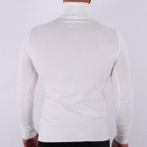 Bluză Maximilian White - Bluza simplă este cel mai versatil articol vestimentar din sezonul rece, o piesă cu reputaţie a stilului casual având compoziţia 81% Viscoză şi 19% Nailon - Deppo.ro