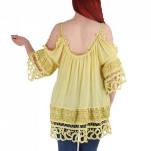 Bluză pentru dame cod 1123 Yellow - Bluză pentru dame Conferă o ținută lejeră de vară - Deppo.ro