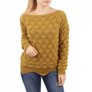 Bluză pentru dame cod F60 Yellow - Bluzăpentru dame - Deppo.ro