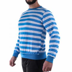 Bluză Rocco Azure - Bluza cu mâneci lungi este cel mai versatil articol vestimentar din sezonul rece, o piesă cu reputaţie a stilului casual având compoziţia 60% bumbac, 40% poliester - Deppo.ro