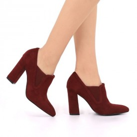Botine Marie Wine Red