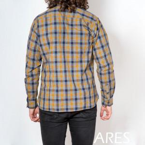 Cămaşă casual cu mânecă lungă cod ARS12 Galben - Camasa pentru barbati cu maneca lunga croiala confort fit. O camasa potrivita atat pentru o zi la birou, cat si pentru o iesire in oras cu prietenii. - Deppo.ro