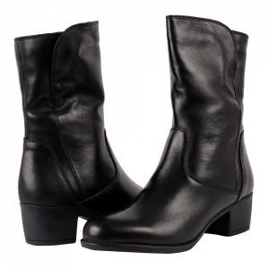 Cizme din piele naturală cod 2626X Negru - Cizme din piele naturală ideale pentru sezonul rece Calapod comod - Deppo.ro