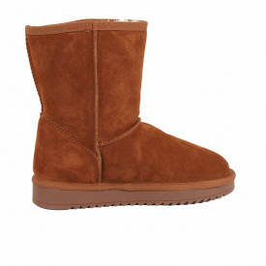 Cizme din piele naturală cod BB2 Camel - Cizme tip UG din piele ecologică întoarsă îmblănite ideale pentru sezonul rece - Deppo.ro