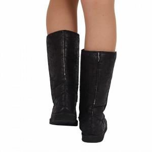 Cizme Loren Black - Cizme tip UG din piele ecologică cu interior îmblănit ideale pentru sezonul rece - Deppo.ro