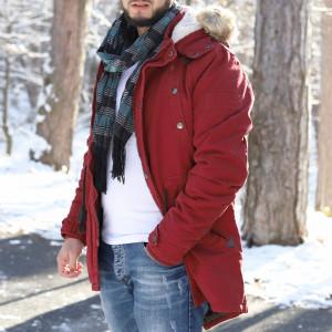 Geacă de iarnă Aron Vişinie