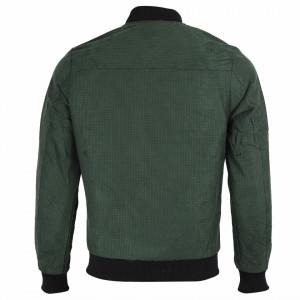 Geacă din piele ecologică pentru bărbați cod P1810 Verde - Geacă din piele ecologică pentru bărbați model primăvară-toamnă pe verde - Deppo.ro