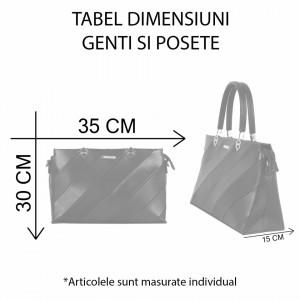 Geantă Jane - Un accesoriu modern, stilat care emană incredere si optimism! Nuanțele culorilor produselor pot să difere ușor, ca urmare a procesului de execuție al fotografiilor sau a setărilor monitorului tău - Deppo.ro