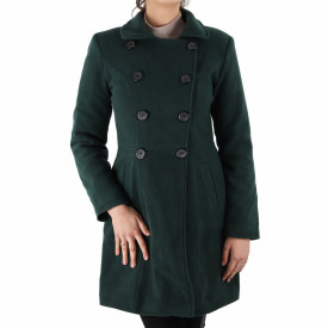 Palton Alicia Green - Palton elegant cu închidere cu nasturi, căptușit pe interior. Îmbracă-l la rochii sau ținute office și asortează-l cu o pereche de mănuși din piele pentru un plus de eleganță. - Deppo.ro