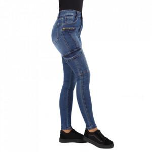 Pantaloni de blugi pentru dame cod 1237 Albaștri