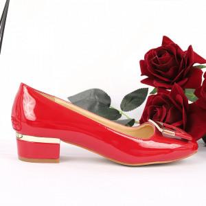 Pantofi Cu Toc 5524 Roși