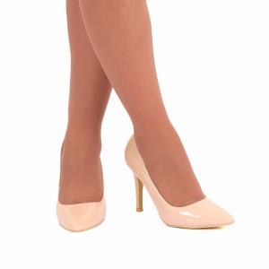 Pantofi Cu Toc Adeline Bej