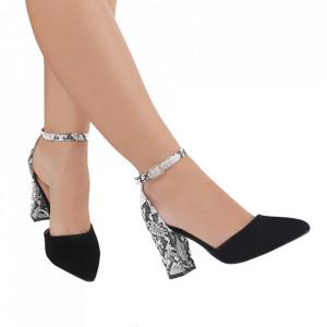 Pantofi cu toc cod 850-26A Negri