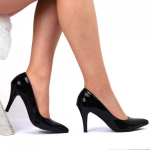 Pantofi Cu Toc Cod 9008 Negri