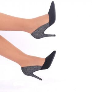 Pantofi cu toc cod A55155 Negri - Produs din piele ecologică foarte confortabili cu un calapod comod - Deppo.ro