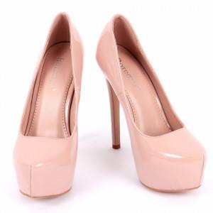 Pantofi cu toc cod EK0001 Nude