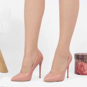 Pantofi cu toc cod EK0015 Roz