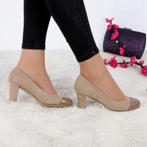 Pantofi cu toc cod JA98791 Bej