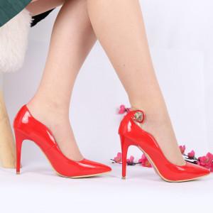 Pantofi Cu Toc cod MZ303 Red