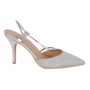 Pantofi cu toc cod OD0218 Silver