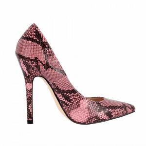 Pantofi cu toc cod Q182471 Roz - Pantofi din piele ecologică, cu vârf ascuţit şi toc subţire, foarte confortabili cu un calapod comod - Deppo.ro
