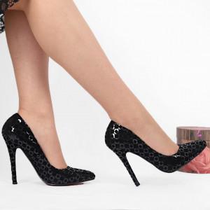 Pantofi Cu Toc cod RZ6804 Black