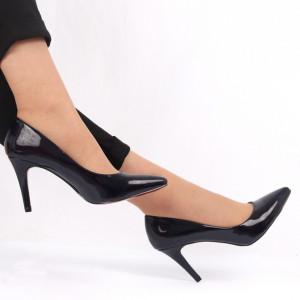 Pantofi cu toc pentru dame cod 00928 Navy