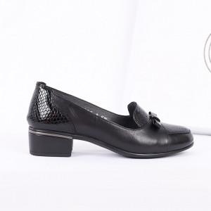 Pantofi din piele naturală cod 118948 Negri - Pantofii îți transformă limbajul corpului și atitudinea. Te înalță fizic și psihic! Pantofi pentru dame din piele naturală - Deppo.ro